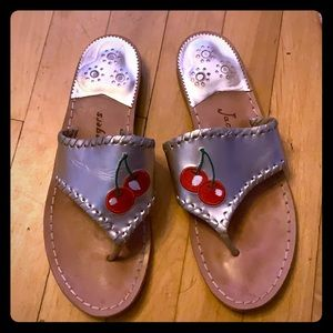 Silver Cherry Jack Rogers